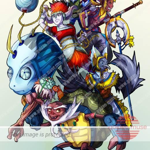Puca Battle Ball Poster Art